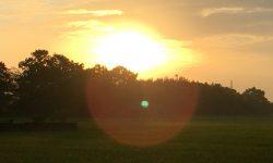 夕日と見せかけて…